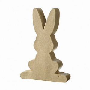 Hase Silhouette, frontal, 19,5 x 14 x 3,5 cm